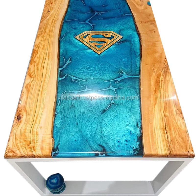 new epoxy wood dining table luxury epoxy resin wood dining table for dining room and home