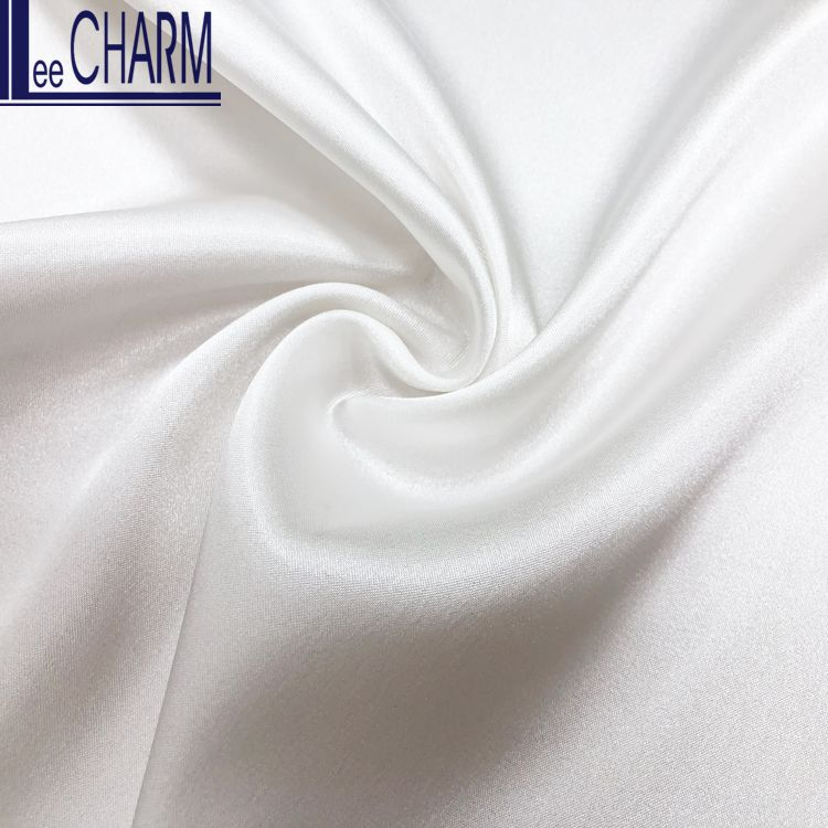 LCL076 Taiwan Quality Heavy Soft Polyester Stretch Charmeuse Satin Dress Material Fabric