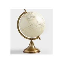 Metal Globe map of the world Golden and White