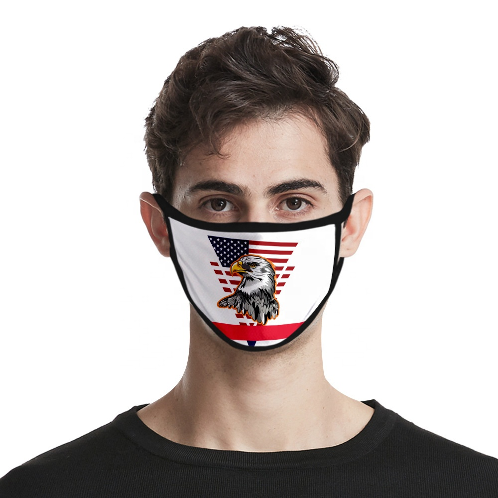 Amazing Fashion Protective head Custom Printing Anti-dust pollen airflow Cotton Facial face protector