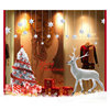 Removable shop decoration snowflake winter deer decal stickers tree window glass Christmas window clings