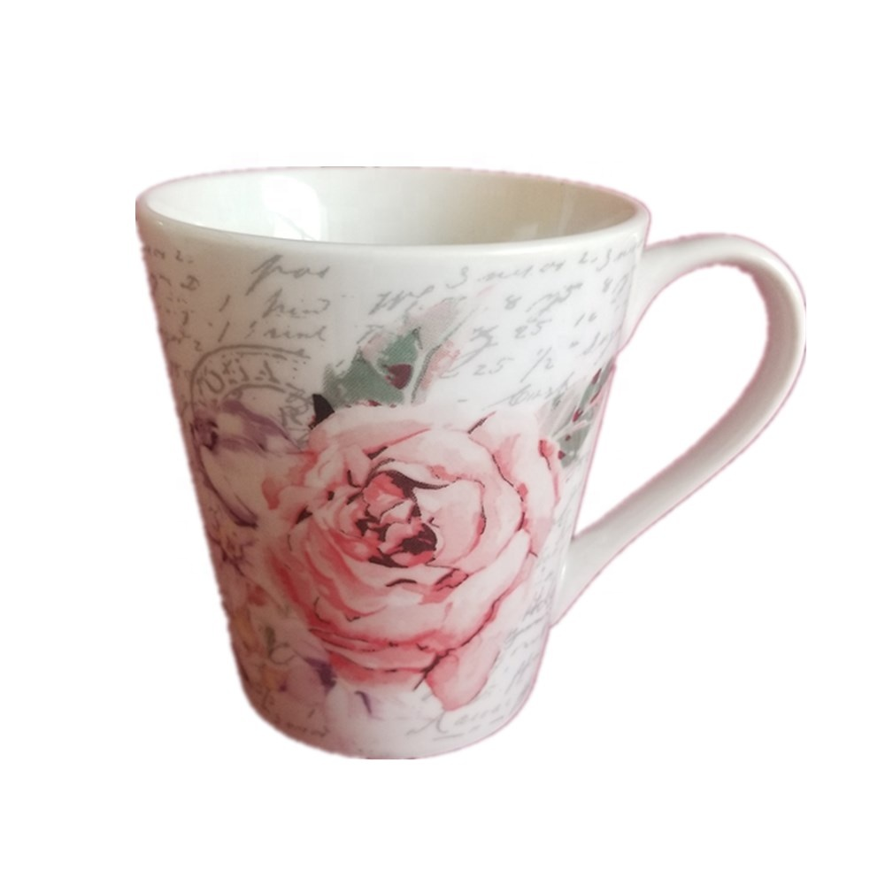 stocked stoneware mugs with full design, straight mugs ceramic 11 OZ,