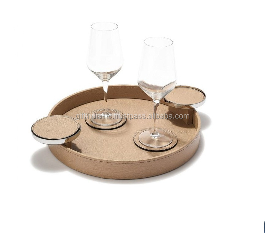 Fancy marble trays for home hotel