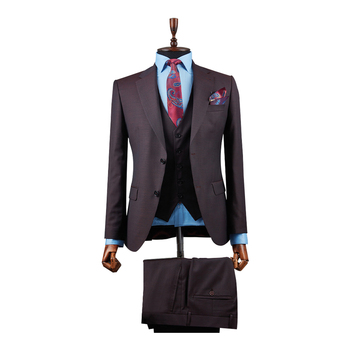 % 100 Wool Men's Business Formal Office Suits Fashion slim fit Suit Wholesale Blazer business Suit Man