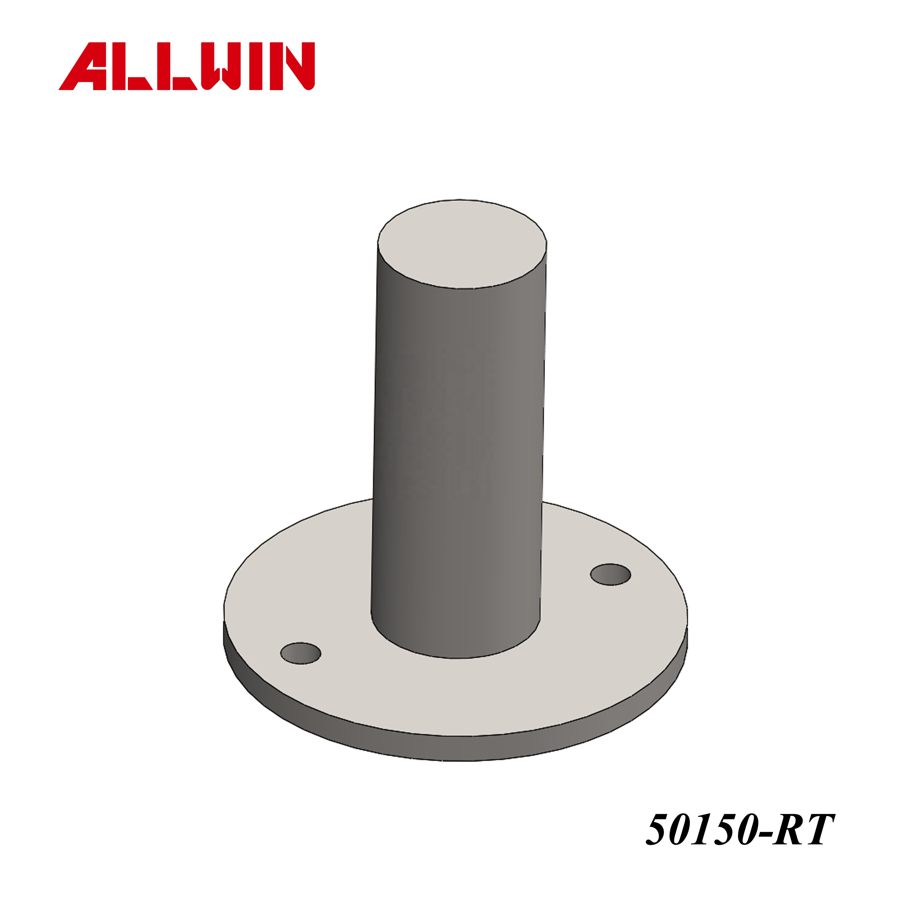 No Welding Require Stainless Steel Handrail Railing Round Tube Post Flange Base Plate