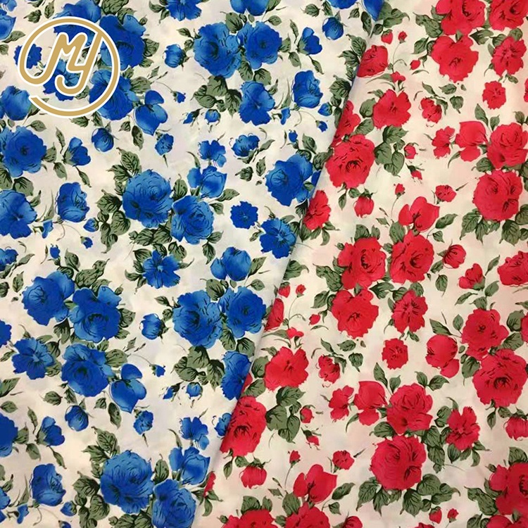 Colorful Woven Comfortable Flower Floral Materials Fabric textile Textiles Printed 100% Cotton Fabric