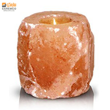 T ที่ใส่ ROCK Himalayan Salt Candle Holder