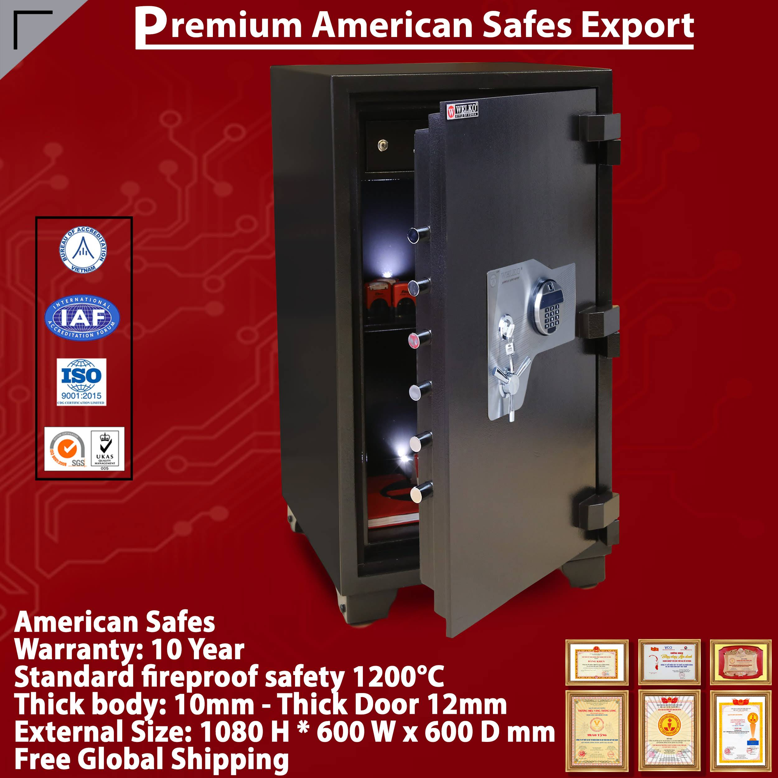 Complete In Specifications Safety And Fingerprint Electronic - Newest design - Newest Anti-theft Technology - From WELKO Safes