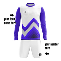 put your number/name cool dry custom designs long sleeve soccer jersey shirt with full sublimation