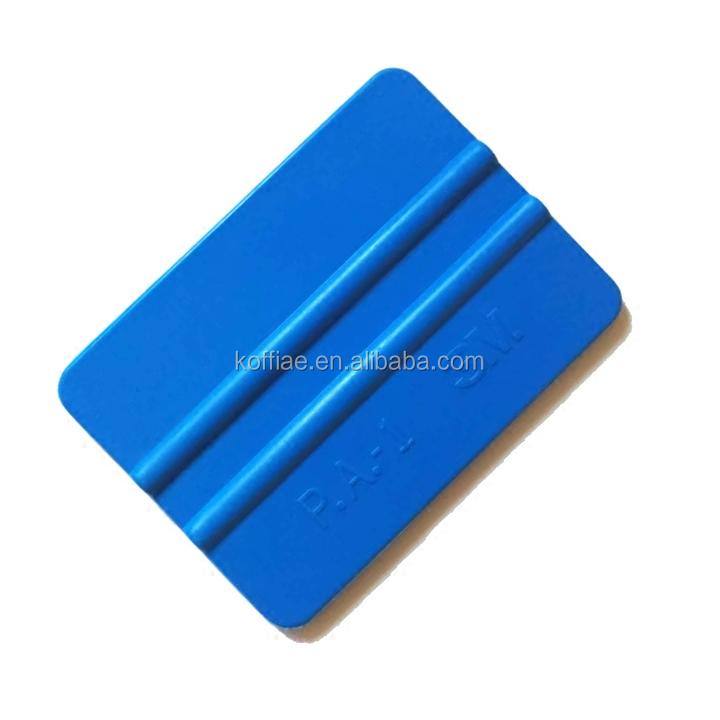 Koffiae छोटे 4 इंच कार विनील लपेटें उपकरण नीले 3M Squeegee महसूस किया