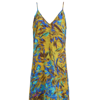 Newest custom printing Silk slip women dress satin backless slip dress