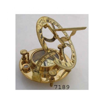beautiful nautical antique brass round sundial compass for sale