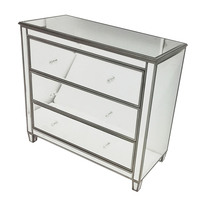 Bedroom Storage Mirrored Chest Dresser Table
