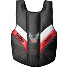 MMA Chest Guard Protector คุณภาพสูงการฝึกอบรมศิลปะการต่อสู้ <span class=keywords><strong>Shield</strong></span> Karate Chest Guard