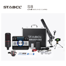 Stabcl 2020 Nieuwe Hot Selling <span class=keywords><strong>Audio</strong></span> <span class=keywords><strong>Interface</strong></span> Externe Geluidskaart <span class=keywords><strong>Studio</strong></span> Opname Live V3 Geluidskaart Set
