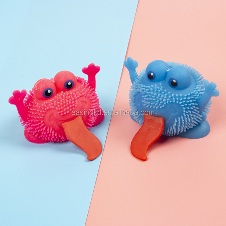 Anti stress TPR long tongue monster squishy toy toy for kid monster squeeze ball