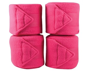 Hot pink stable horse polo bandages