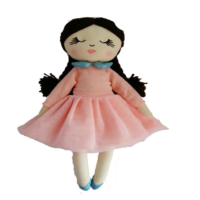 custom toy China personal creation 2020 latest design plush fabric cloth American rag doll manufacturer