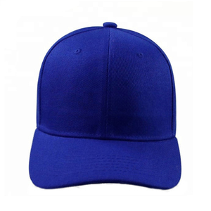 New Promotional Soft Sports Blue Color 5 Panal Hats Caps
