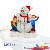 Noel Snowman Handmade Design Greeting Card New Design Wholesale Vietnam 3D Pop Up Card