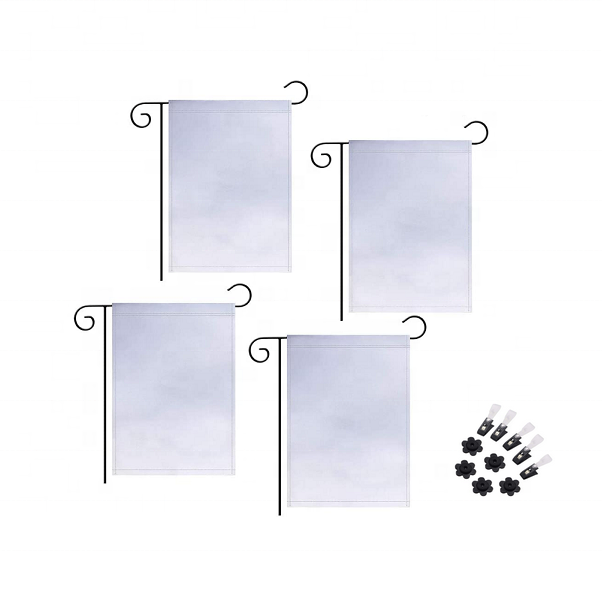 Wholesale 12x 18inch Stock 30x45cm Double Sided Sublimation Blank Garden <strong>Flag</strong>
