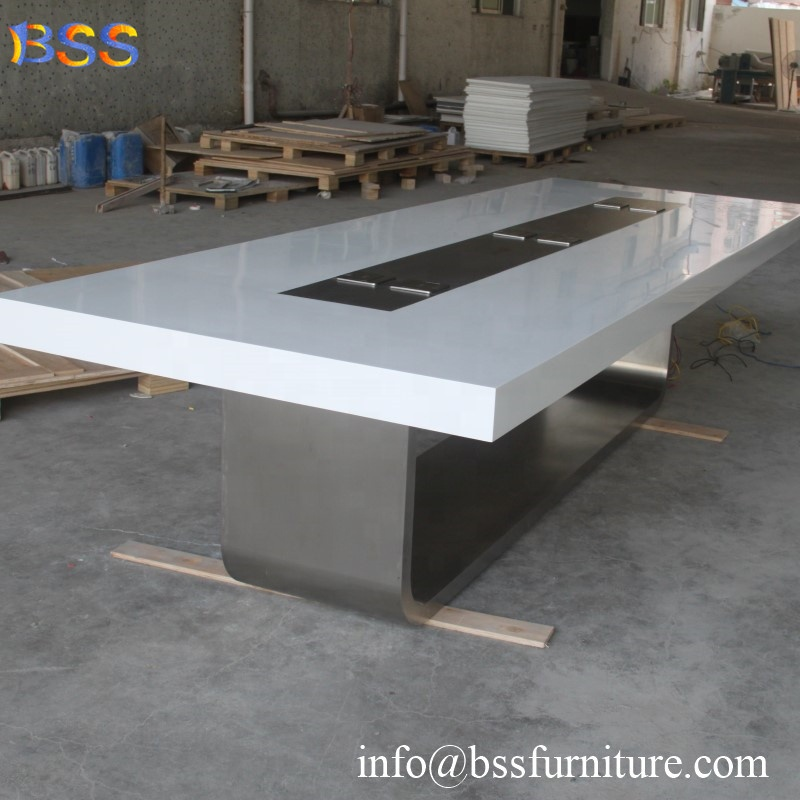 China Conference Room Table Smart Executive Corian Quartz Stone Marble Top Modern Design Office Furniture White Conference Table China Conference Room Table Smart Executive Corian Quartz Stone Marble Top Modern Design Office Furniture White Conference Ta