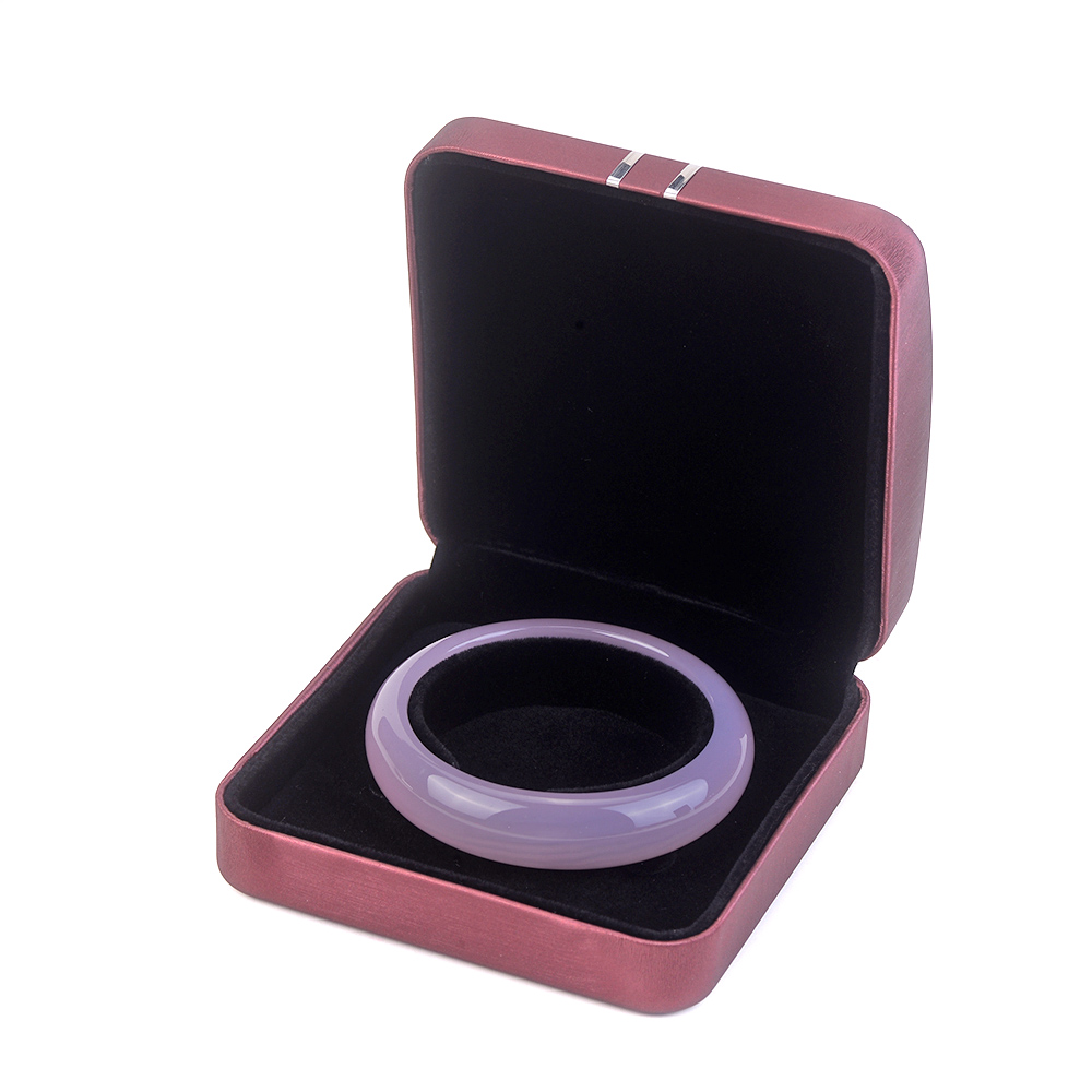 customize pink  earring ring necklace packaging Jewellery Leather  boxes for travel with logo