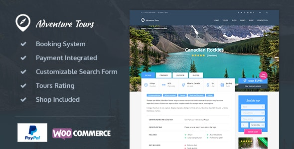 tour and travel website in wordpress