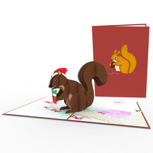Squirrel Greeting Christmas 3D Pop Up Handmade Custom Card Paper Craft Vietnam