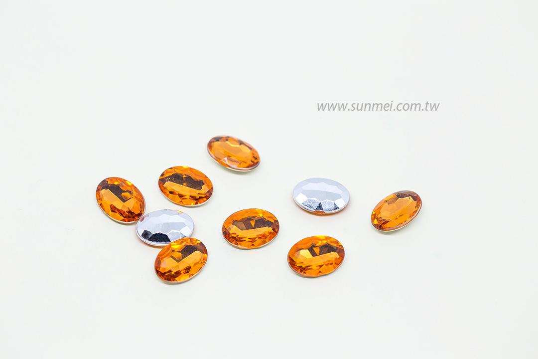 Oval Shape Full Sizes Colorful Decorative Rhinestone Shirt Acrylic Rhinestone Crystal Point Back Rhinestones for Wedding Dresses