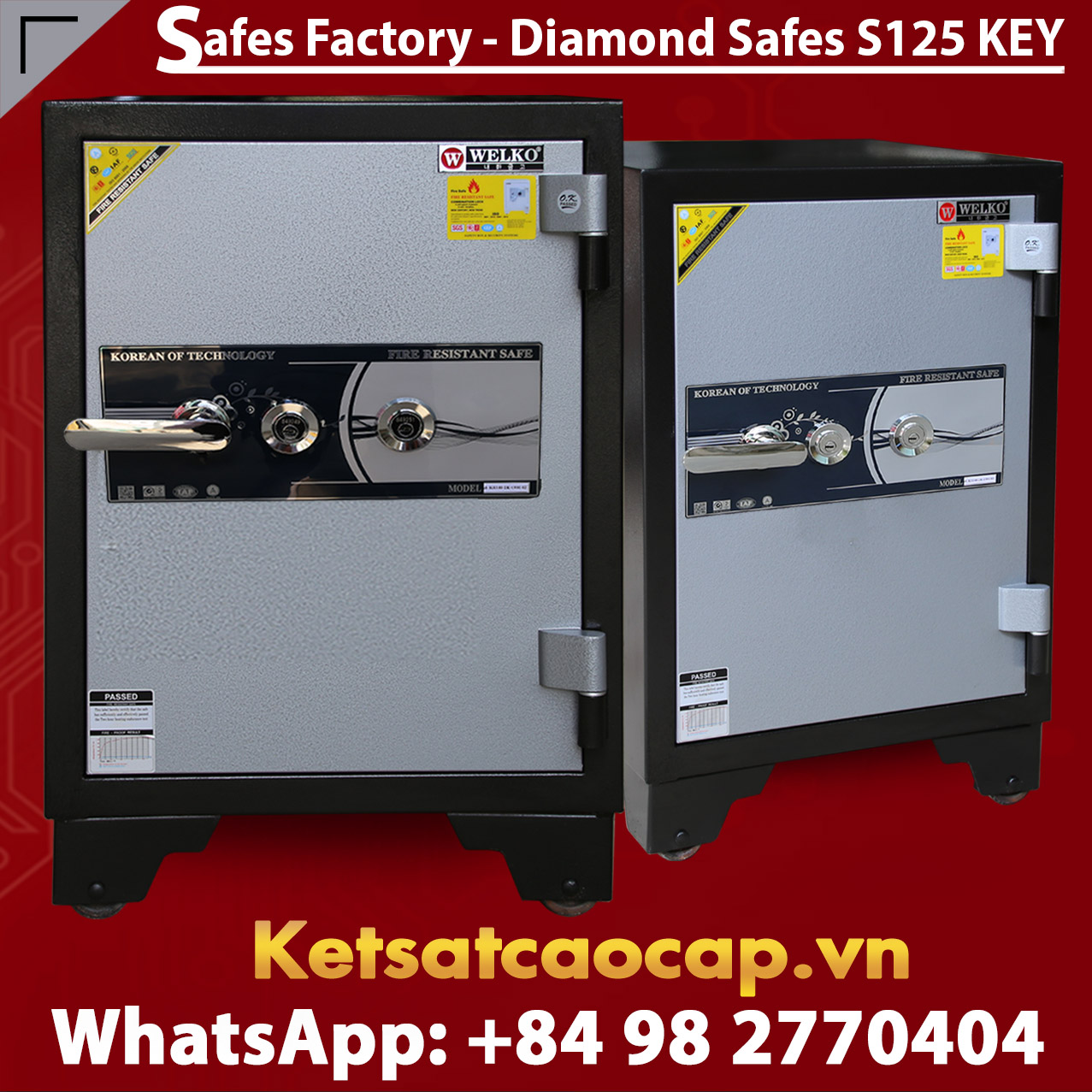 Diamond Safe KS125 2Key Black