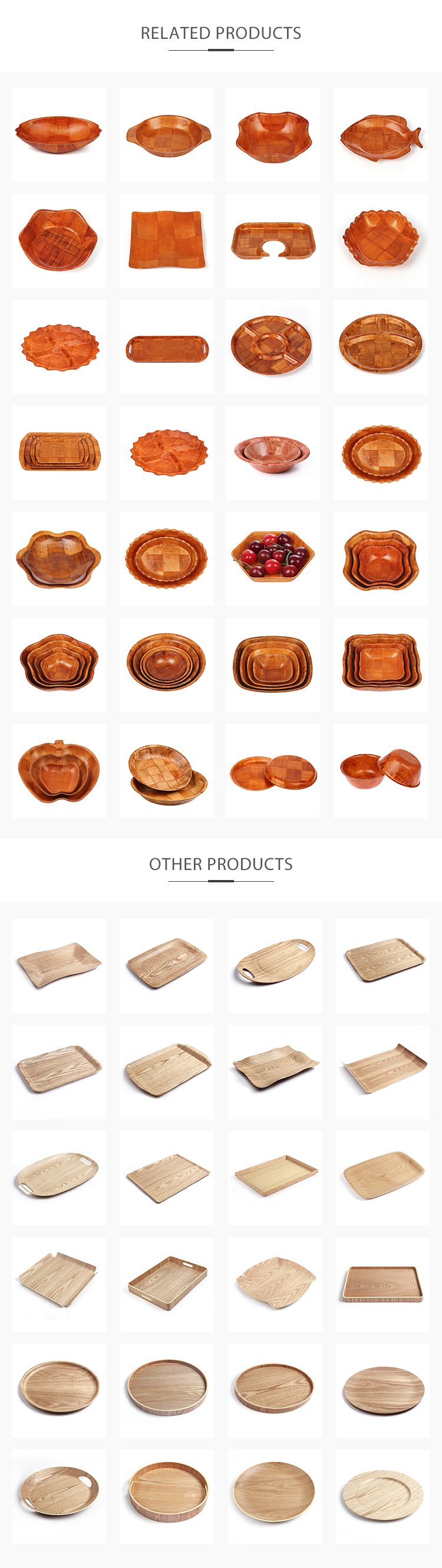 Wholesale high quality hot sale unique woven wooden salad bowls
