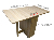Manufacturer Dining Table and Chairs Large Storage Folding Dining Table with Casters