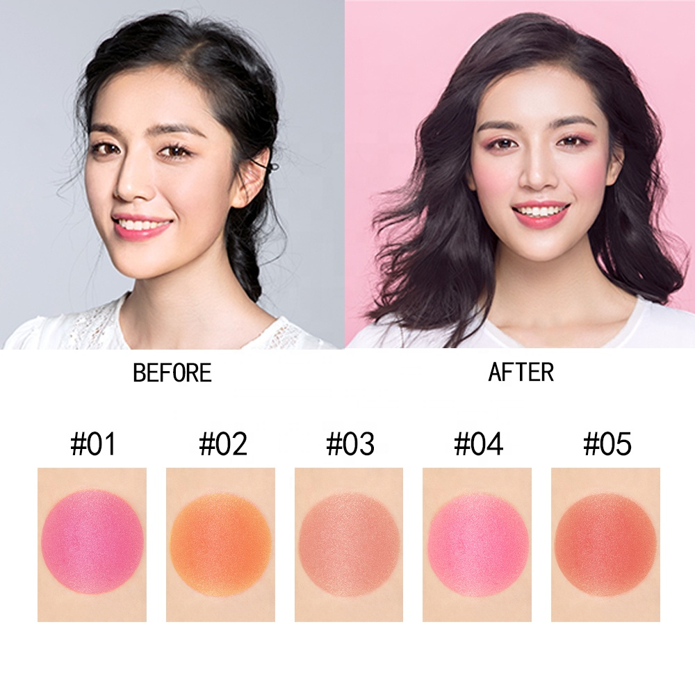Private Label 5 Color Blush Makeup Stick Elegant Waterproof Blusher
