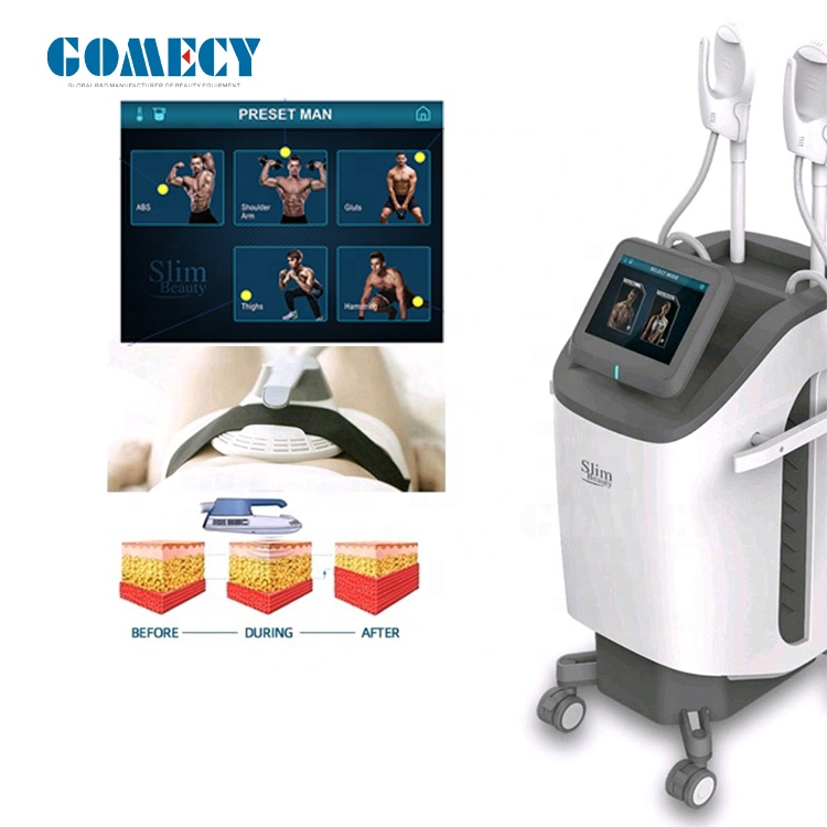 GOMECY 2020 Newest  desig High intensity pulsed EMS  Belly muscle lift body skin lifting hip button lift beauty equipment