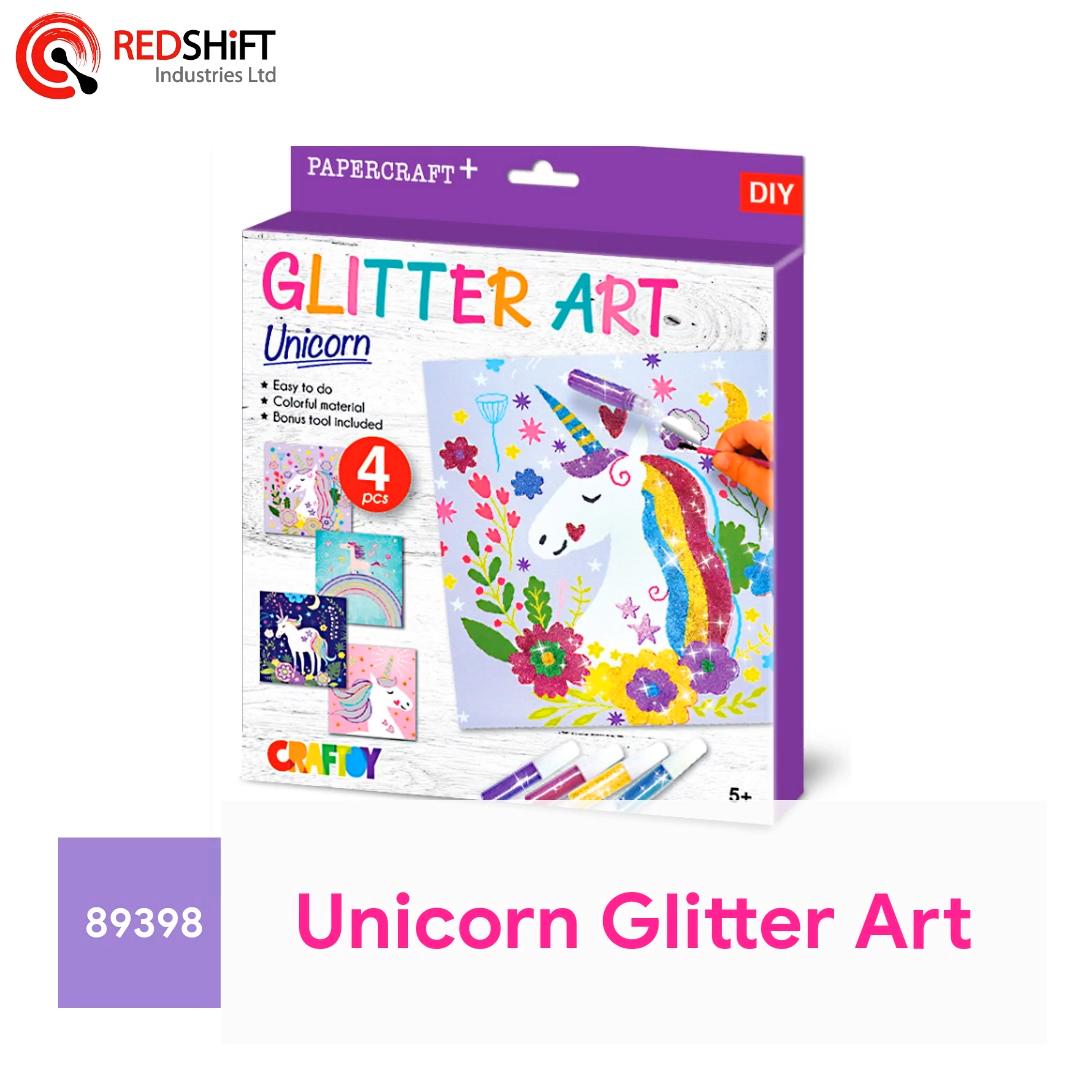 Glitter Poeder Canvas Kunst En Ambacht Eenhoorn Papier Ambachtelijke Kit Kind Diy Schilderij Tekening Sticker Board Card Amazon Fba Kleuring