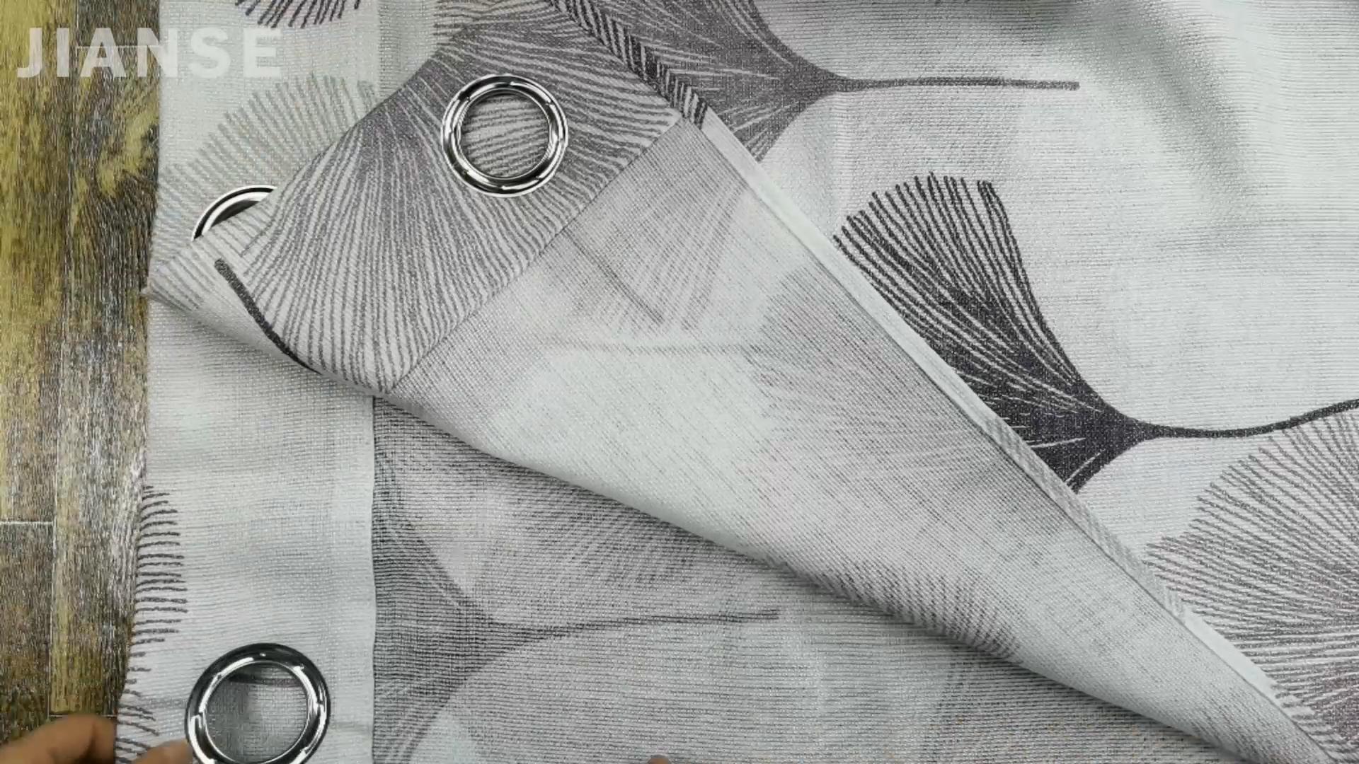 7.44.1 90GSM GROßE Gingko Blatt Gedruckt Sheer Vorhang Voile Vorhänge Für Wohnzimmer Schlafzimmer