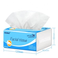 Wholesale customized package OEM 3ply soft pack facial tissue paper for face cleaning