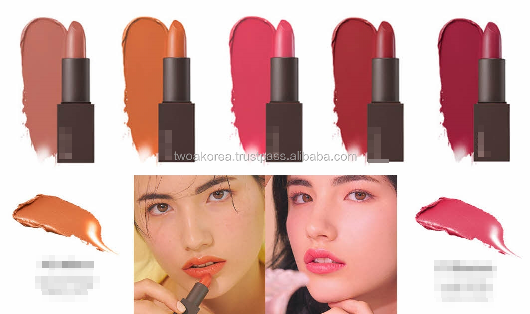 Korean velvet lip tint with soft tip by private label service.