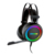 Best Sell OEM logo black RGB color leather headband USB gaming headset for compatible with P.S 4