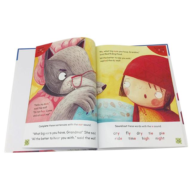 الجملة مخصص غطاء من الورق المقوى غلاف الأطفال الإنجليزية طباعة كتب حكايات