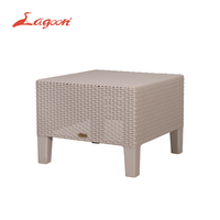 Lagoon Magnolia Side Table Outdoor Rattan style Plastic Furniture Patio Hotel