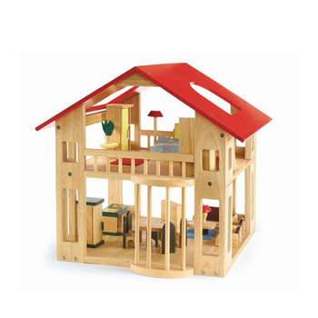 Wooden Dollhouse Furniture Wooden Toy Diy Dollhouse With Colorful Dolls Furnitures Kids Pretend Play Large Doll House