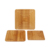High quality factory price wholesale blank bamboo coasters with texture