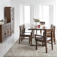 oak solid wood set vietnam factory offer custom dining table and chair