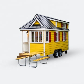 Deepblue Smarthouse Modern Modular Light Steel Small Folding Tiny Prefab on manufactured housing module home, yellow mobile stars, mystic yellow paint color home, burgundy with yellow trim home,