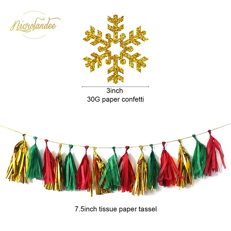 Nicro New Products Christmas Party Supplies Decoration Set
