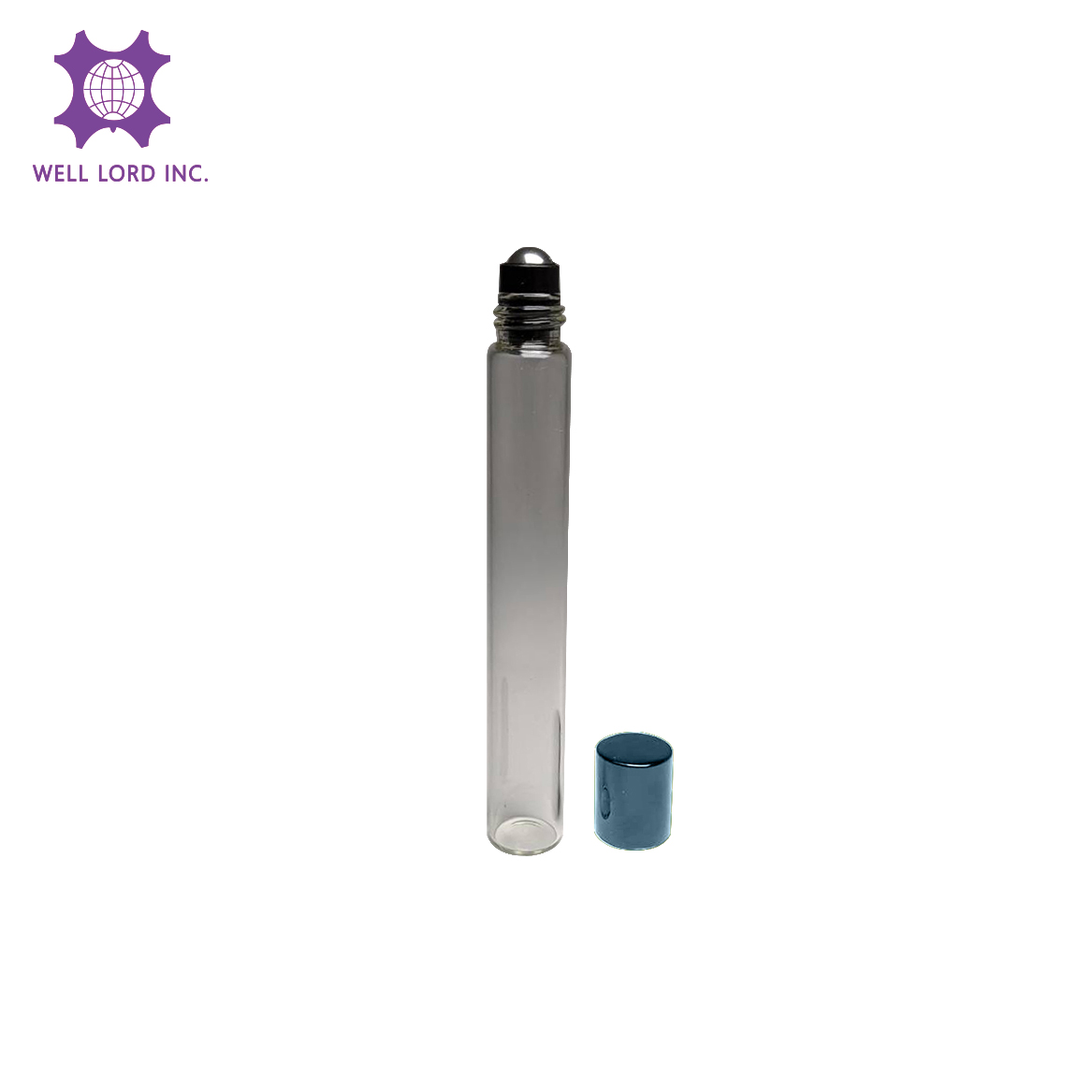Clear Essential Oil Perfume Bottles with Metal Stainless Steel Roller Ball travel mini roll on bottle