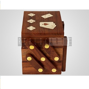 Wooden Domino / Dominoes Game, Handmade Educational Toys