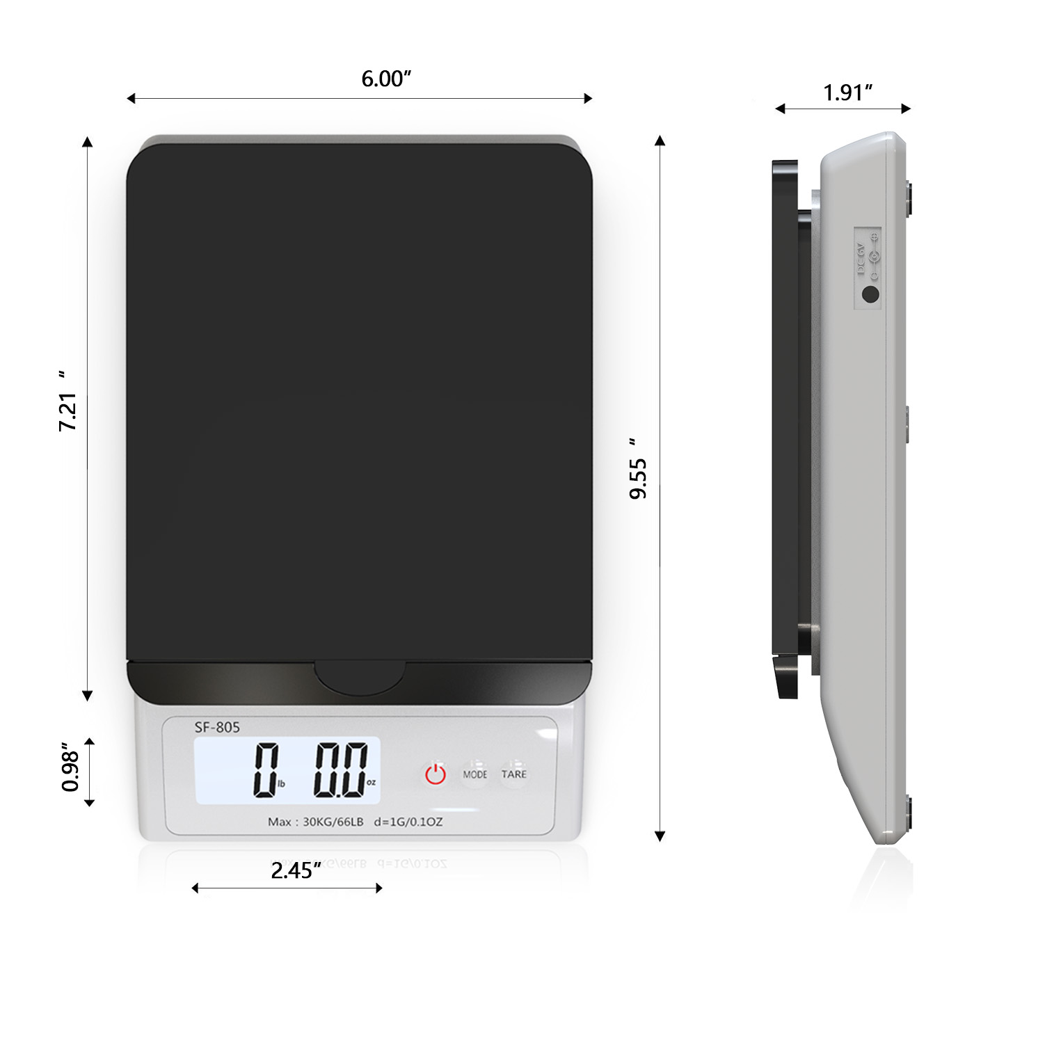 SF-805 2020 new product weight scale electronic balance for parcel mail weighing
